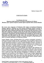 Comunicato stampa del lic. phil. I Giampaolo Baragiola